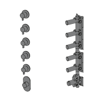 Thermostatic with 5 ways manifold