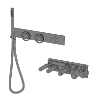 Horizontal shower kit