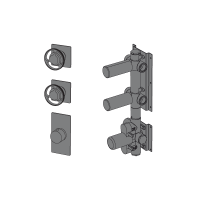 Thermostatic with 2 ways manifold