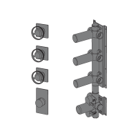 Thermostatic with 3 ways manifold