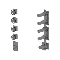 Thermostatic with 4 ways manifold