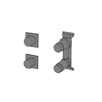3-ways thermostatic