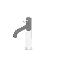 Medium basin mixer